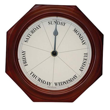 Keep Track Of Days, Not Time Clock - Mahogany