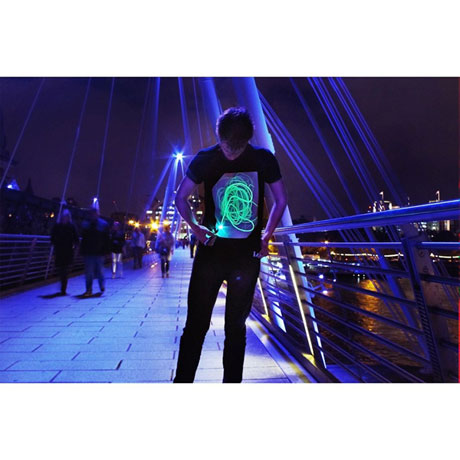 Interactive Glow-In-The Dark T-shirt