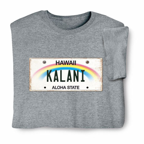 Personalized State License Plate Shirts - Hawaii