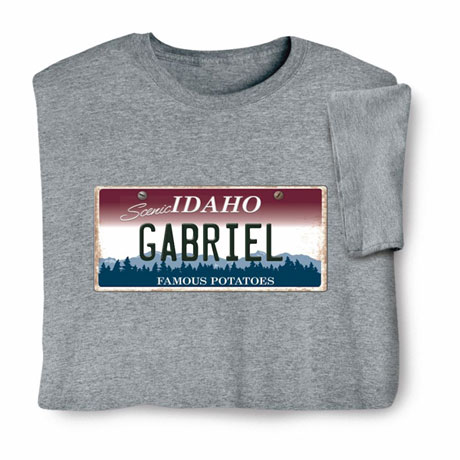 Personalized State License Plate Shirts - Idaho