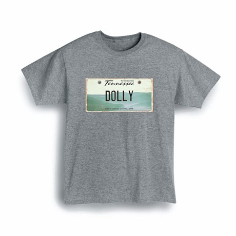 Personalized State License Plate Shirts - Tennessee