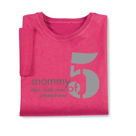 Personalized Mommy of 5 T-Shirt