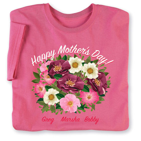 Personalized Mother's Day Floral Arrangement T-Shirt