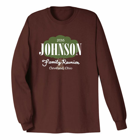 Personalized Your Name Family Reunion Tree Shirt