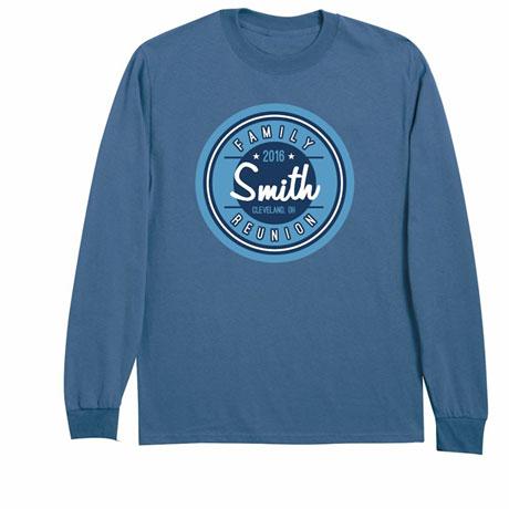 Personalized Your Name Circular Logo Family Reunion Shirt