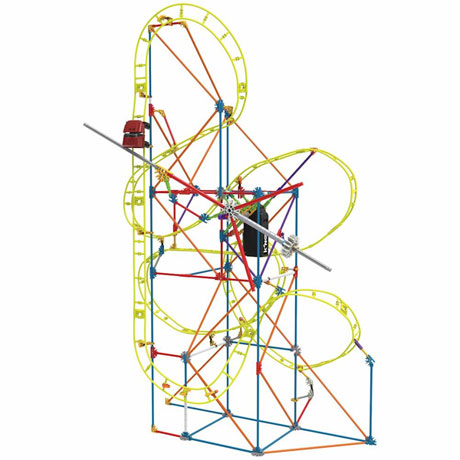 STEM Exploration Amusement Park Building Kits - Clockwork Roller Coaster
