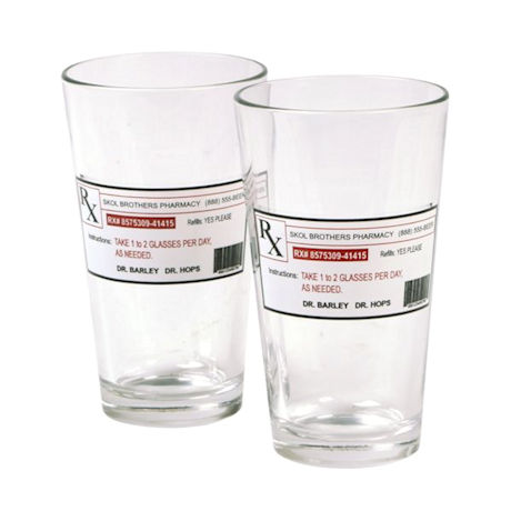 Prescription Beer Glass