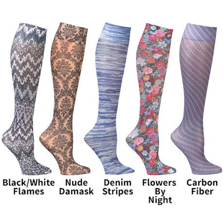 Celeste Stein Mild Compression Wide Calf Knee High Stockings