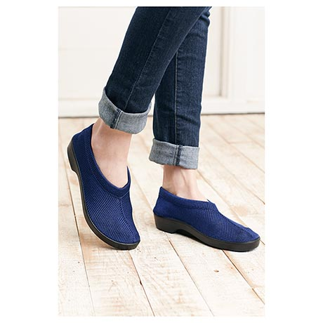 Spring Step Stretch Knit Slip On Shoes