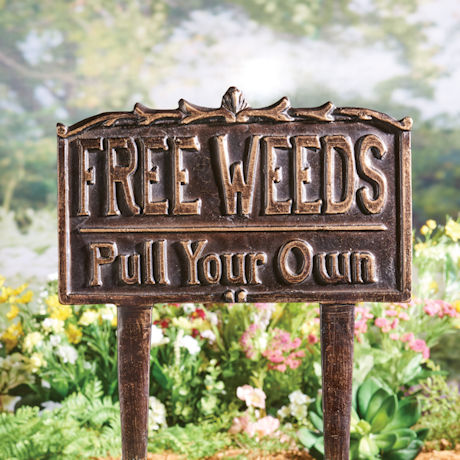 Free Weeds Yard Sign