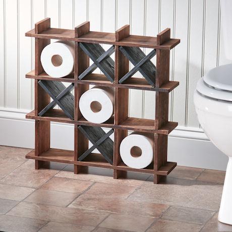 Tic-Tac-Toe Toilet Paper Holder