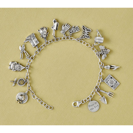 Gardener Sterling Charm Bracelet