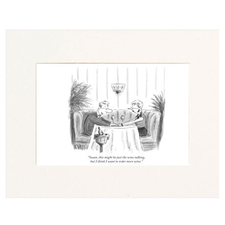 Just the Wine Talking Personalized New Yorker Cartoonist Cartoon