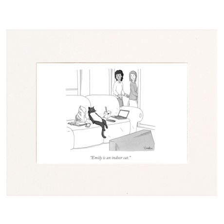 Indoor Cat Personalized New Yorker Cartoonist Cartoon