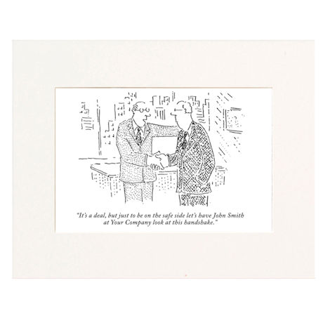 It's a Deal Personalized New Yorker Cartoonist Cartoon