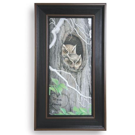 Personalized Owls Framed Canvas Print