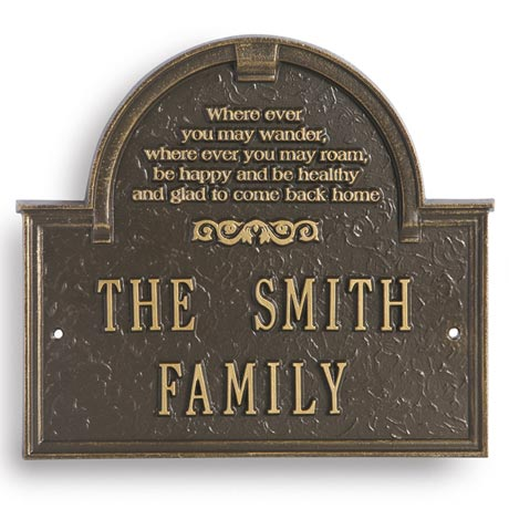 Personalized Wherever You May Wander House Plaque