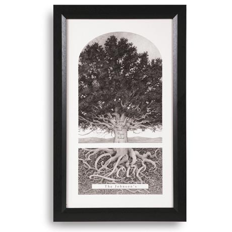 "Personalized Family Tree Print - 12"" X 19"""