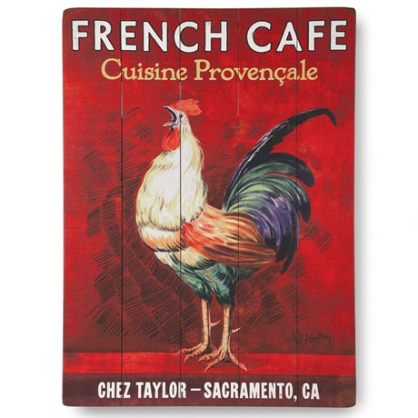 Personalized French CafÉ Sign