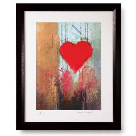 Personalized Heart Strings Framed Print