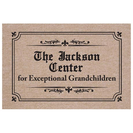 "Personalized ""Center For Exceptional Grandchildren"" Doormat"