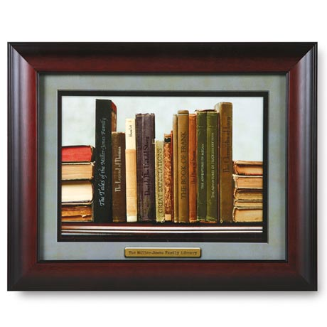 Personalized Family Library Framed Print
