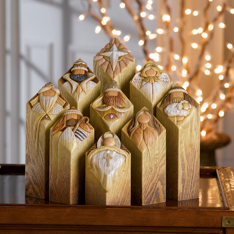 Pillars of Heaven Nativity Set