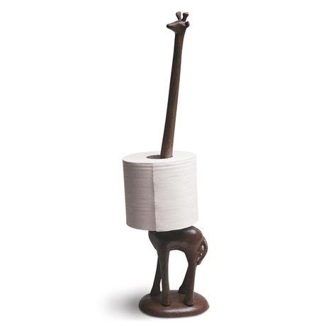 Cast Iron Giraffe Paper Towel Bathroom Tissue Holder 18 1 2 High