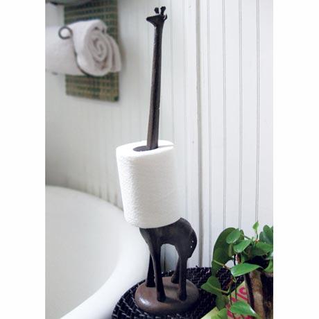 Cast Iron Giraffe Paper Towel Holder