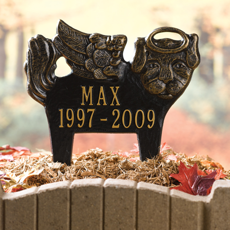 Personalized Angel Pet Memorial Marker - Dog