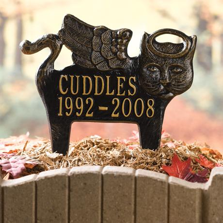 Personalized Angel Pet Memorial Marker - Cat