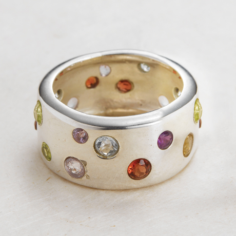 Scattered Gemstone Ring