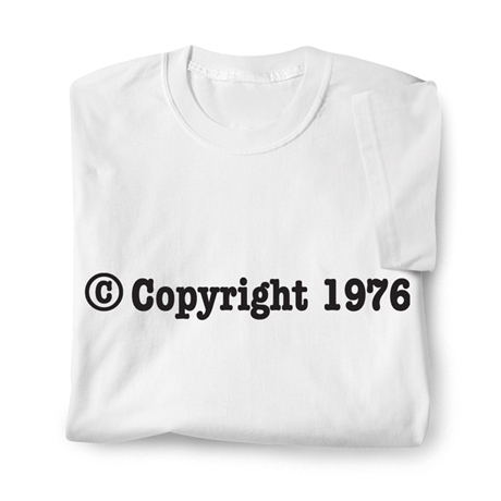 Personalized &Copy; Copyright Birth Year Shirt