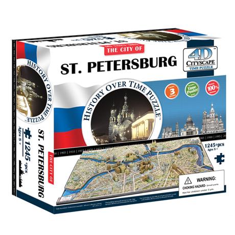 4D Cityscape Puzzle: St. Petersberg