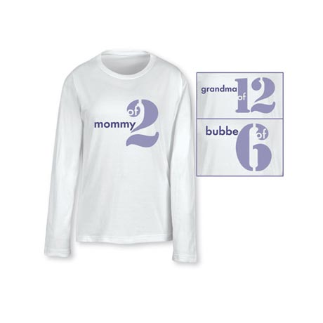 Personalized Mommy & Grandma T-Shirt