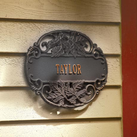 Personalized Twining Vines House Sign