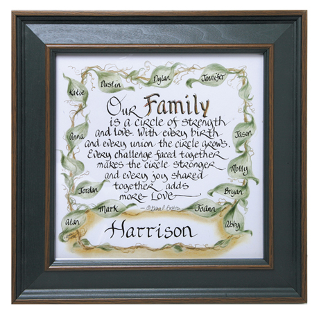 Personalized Our Family Framed Print - Framed