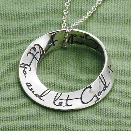 Let Go And Let God Mobius Necklace
