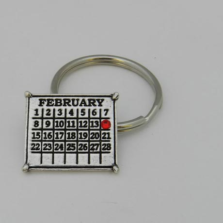 Personalized Classic Calendar Key Ring (Round)