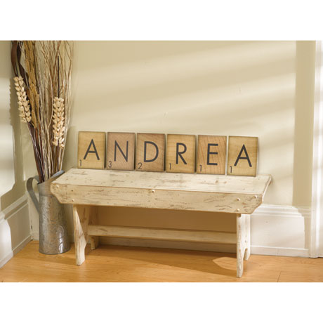 Personalized Game Piece Wall Art - 5 Letters