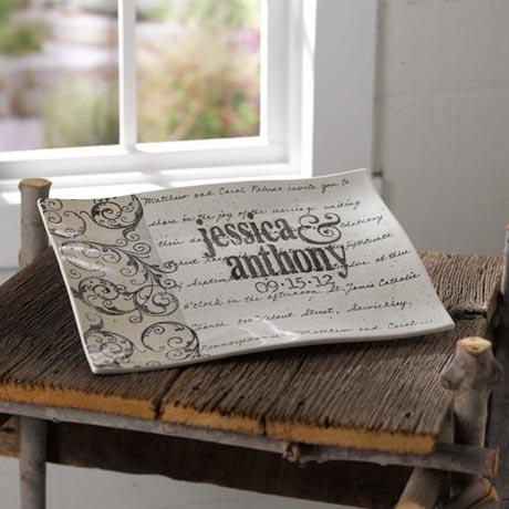 Personalized Wedding Day Platter - Corinthians Background