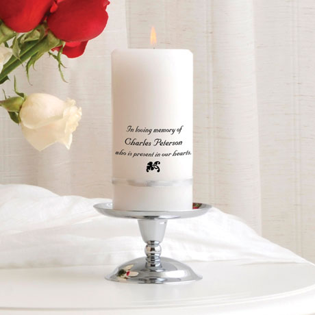 Personalized Memorial Candle Set