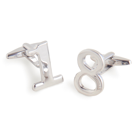 Numbers Cufflinks With Personalized Case