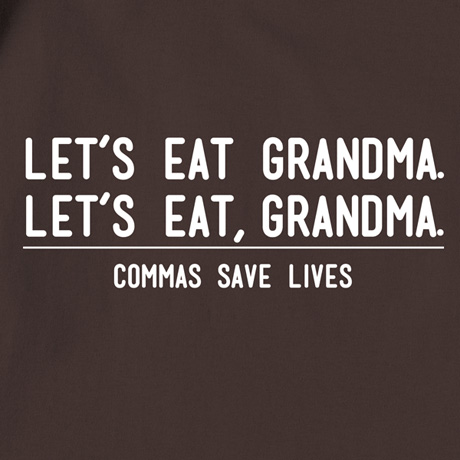 Commas Save Lives Shirts