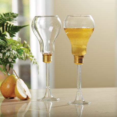 Light Bulb Wine Glasses (set of 2)