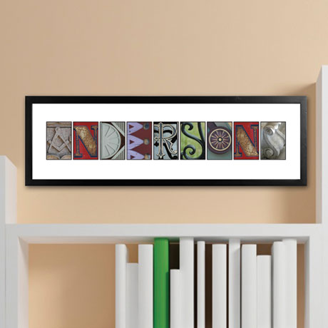 Personalized Urban Alphabet Architectural Name Print