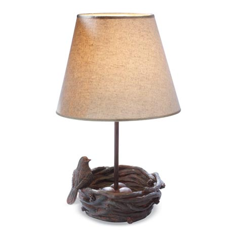 Birds nest accent lamp the enchanted acorn fairy gardens woodland birds nest accent lamp mozeypictures