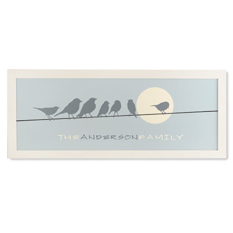 Personalized Birds On A Wire Family Print
