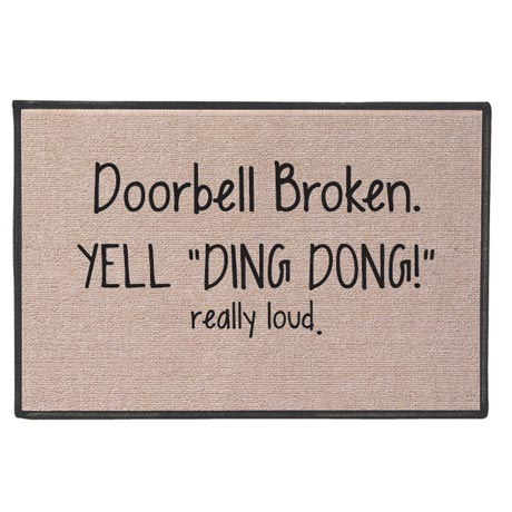 Yell 'Ding Dong!' Doormat