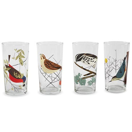 Oldham Harper Glassware - Mixed Birds